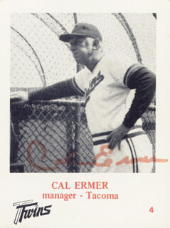 CAL ERMER - TRADING/SPORTS CARD SIGNED