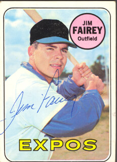 JIM FAIREY - TRADING/SPORTS CARD SIGNED