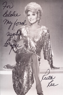 RUTA LEE - INSCRIBED PICTURE POSTCARD SIGNED
