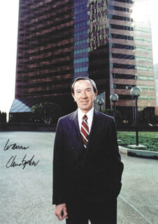 Autographs: WARREN M. CHRISTOPHER - PHOTOGRAPH SIGNED