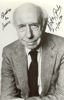MORTON GOULD - AUTOGRAPHED INSCRIBED PHOTOGRAPH 10/16/1990