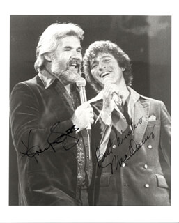 KENNY ROGERS - AUTOGRAPHED SIGNED PHOTOGRAPH CO-SIGNED BY: MAC DAVIS