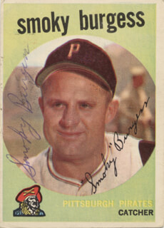SMOKY BURGESS - TRADING/SPORTS CARD SIGNED