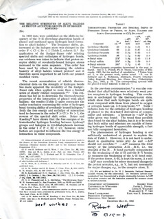 ROBERT C. WEST - ARTICLE SIGNED CIRCA 1962