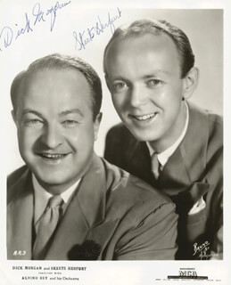 ARTHUR SKEETS HERFURT - AUTOGRAPHED SIGNED PHOTOGRAPH CO-SIGNED BY: DICK ICKY MORGAN