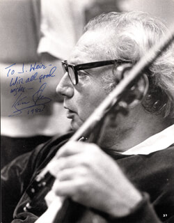 ISAAC STERN - AUTOGRAPHED INSCRIBED PHOTOGRAPH 1982