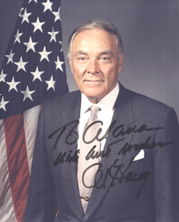 GENERAL ALEXANDER M. HAIG JR. - AUTOGRAPHED INSCRIBED PHOTOGRAPH
