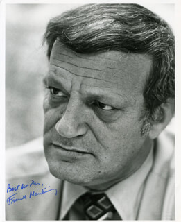 FRANK F. MANKIEWICZ - AUTOGRAPHED SIGNED PHOTOGRAPH
