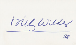 BILLY WILDER - AUTOGRAPH 1988