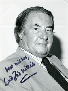 BARON TED WILLIS - AUTOGRAPHED SIGNED PHOTOGRAPH