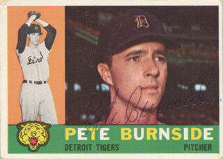 PETE BURNSIDE - TRADING/SPORTS CARD SIGNED