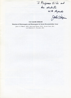 JOHN S. O'BRIEN - INSCRIBED ARTICLE SIGNED