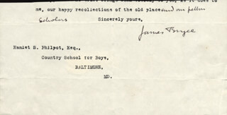 Autographs: JAMES (1ST VISCOUNT BRYCE) BRYCE (BRITAIN) - TYPED LETTER FRAGMENT SIGNED