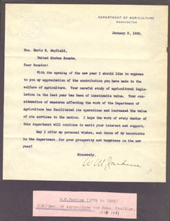 Autographs: WILLIAM M. JARDINE - TYPED LETTER SIGNED 01/03/1929