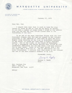 GEORGE E. REEDY - TYPED LETTER SIGNED 01/17/1975