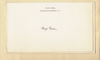 Autographs: FLOYD DELL - PRINTED CARD SIGNED IN INK