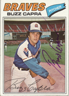 BUZZ CAPRA - TRADING/SPORTS CARD SIGNED