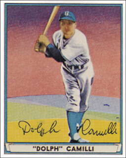 DOLPH CAMILLI - TRADING/SPORTS CARD SIGNED