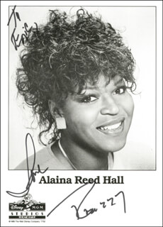 ALAINA REED HALL - INSCRIBED PHOTOGRAPH SIGNED IN CHARACTER