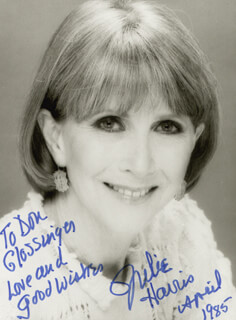 JULIE HARRIS - AUTOGRAPHED INSCRIBED PHOTOGRAPH 4/1985