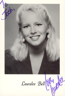 LAURA LEE BELL - AUTOGRAPHED INSCRIBED PHOTOGRAPH