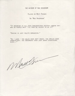 MATT FREWER - TYPED QUOTATION SIGNED