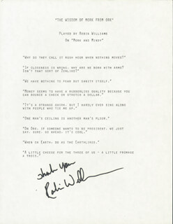 ROBIN WILLIAMS - TYPESCRIPT SIGNED