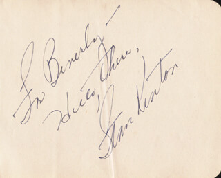 STAN KENTON - AUTOGRAPH NOTE SIGNED
