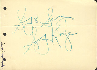 SAMMY KAYE - AUTOGRAPH SENTIMENT SIGNED CIRCA 1939