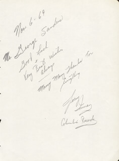 JERRY INMAN - AUTOGRAPH LETTER SIGNED 11/06/1969