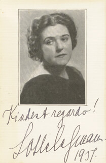 LOTTE LEHMANN - PHOTOGRAPH MOUNT SIGNED 1937