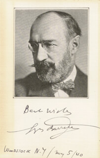 Autographs: GEORGES BARRERE - AUTOGRAPH SENTIMENT SIGNED 05/05/1940