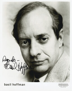 BASIL HOFFMAN - AUTOGRAPHED SIGNED PHOTOGRAPH