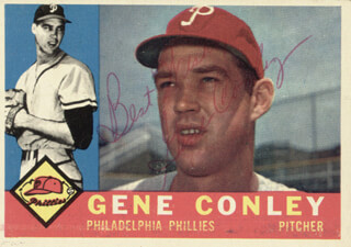GENE CONLEY - TRADING/SPORTS CARD SIGNED