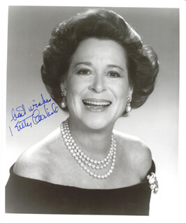 KITTY CARLISLE - AUTOGRAPHED SIGNED PHOTOGRAPH