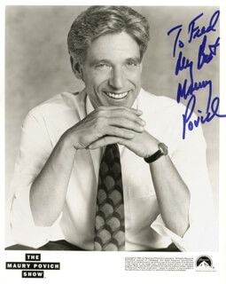 MAURY POVICH - AUTOGRAPHED INSCRIBED PHOTOGRAPH