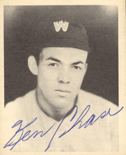 KEN CHASE - TRADING/SPORTS CARD SIGNED