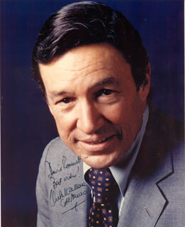 MIKE WALLACE - AUTOGRAPHED INSCRIBED PHOTOGRAPH