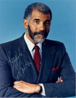 ED BRADLEY - AUTOGRAPHED SIGNED PHOTOGRAPH