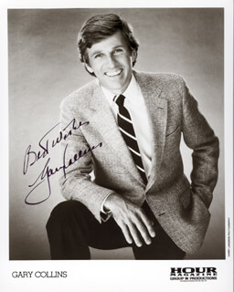 GARY COLLINS - AUTOGRAPHED SIGNED PHOTOGRAPH