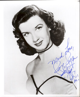 PEGGY RYAN - AUTOGRAPHED SIGNED PHOTOGRAPH