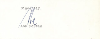 ASSOCIATE JUSTICE ABE FORTAS - TYPED SENTIMENT SIGNED