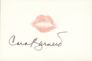 CAROL BURNETT - LIP PRINT SIGNED