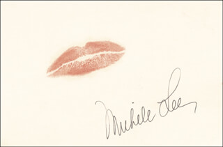 MICHELE LEE - LIP PRINT SIGNED