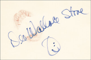 DEE WALLACE - LIP PRINT SIGNED