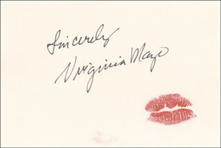 VIRGINIA MAYO - LIP PRINT SIGNED