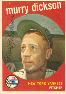 MURRY DICKSON - TRADING/SPORTS CARD SIGNED