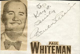 PAUL POPS WHITEMAN - AUTOGRAPH NOTE SIGNED