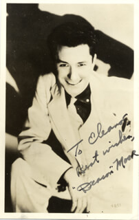 CARL DEACON MOORE - INSCRIBED PICTURE POSTCARD SIGNED CIRCA 1938