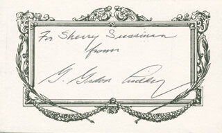 G. GORDON LIDDY - AUTOGRAPH NOTE SIGNED